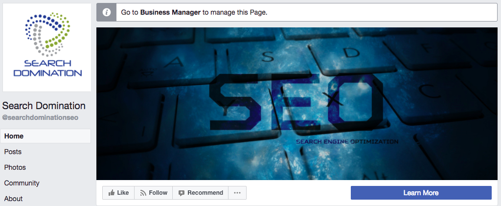 Image of Search Domination's Facebook cover image