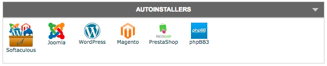 This is an image of the Autoinstaller icons provided in cPanel of host.